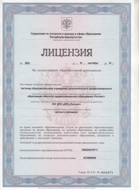 «Лицензия на осуществление образовательной деятельности»