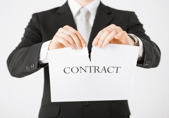 Расторжение договоров в связи с ликвидацией